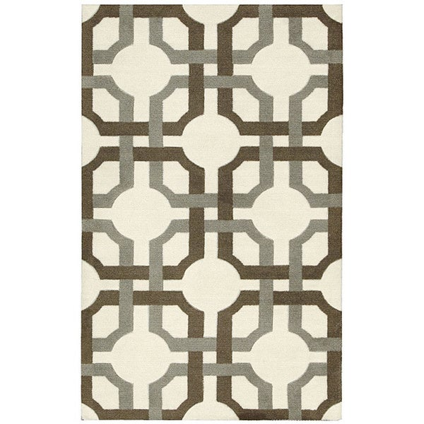 Waverly Artisanal Delight Groovy Grille Tobacco Area Rug by Nourison (2'6 x 4') - 2'6 x 4'