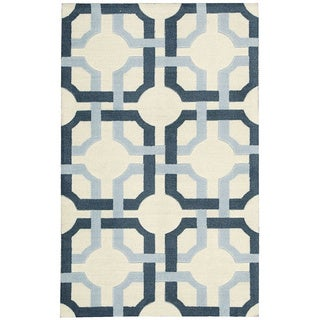 Waverly Artisanal Delight Groovy Grille Sky Area Rug by Nourison (2'6 x 4')