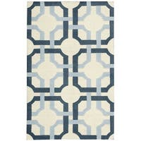 Waverly Artisanal Delight Groovy Grille Sky Area Rug by Nourison (2'6 x 4') - 2'6 x 4'