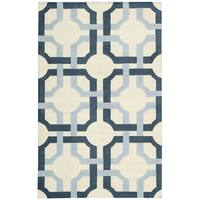Waverly Artisanal Delight Groovy Grille Sky Area Rug by Nourison - 2'6 x 4'
