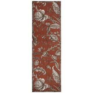 Waverly Artisanal Delight Fanciful Russet Area Rug by Nourison (2'6 x 8')