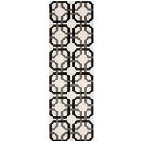 Waverly Artisanal Delight Groovy Grille Licorice Area Rug by Nourison (2'6 x 8') - 2'6 x 8'