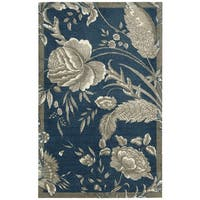 Waverly Artisanal Delight Fanciful Indigo Area Rug by Nourison - 4' x 6'