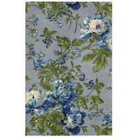 Waverly Artisanal Delight Forever Yours Sky Area Rug by Nourison (5' x 7')