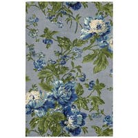 Waverly Artisanal Delight Forever Yours Sky Area Rug by Nourison - 5' x 7'