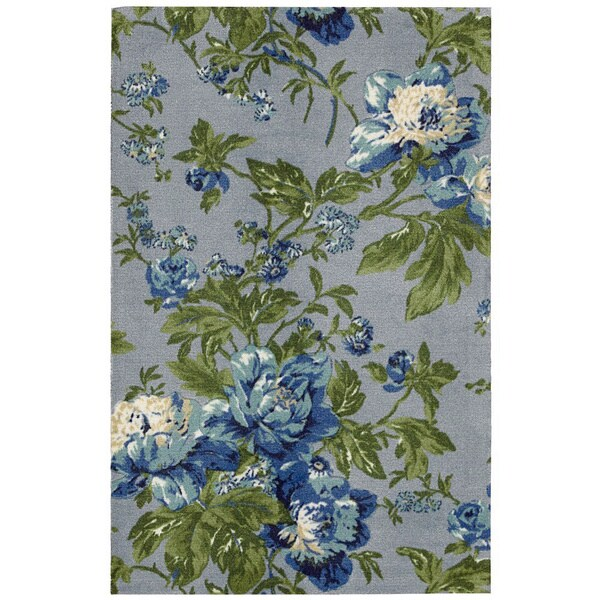 Waverly Artisanal Delight Forever Yours Sky Area Rug by Nourison (5' x 7') - 5' x 7'