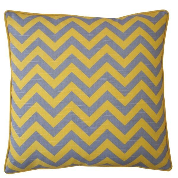 """Handmade Yellow Zig Zag Pillow - 20"""" x 20"""""""