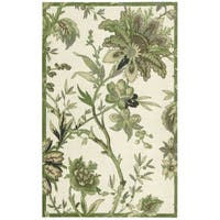 Waverly Artisanal Delight Felicite Leaf Area Rug by Nourison (5' x 7') - 5' x 7'