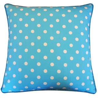 Jiti Blue 20 x 20-inch Polka Dot Decorative Pillow