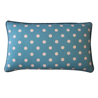 Jiti Blue 12 x 20-inch Polka Dot Decorative Pillow