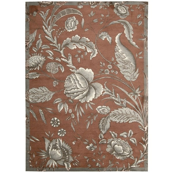 Waverly Artisanal Delight Fanciful Russet Area Rug by Nourison (5' x 7')