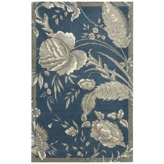 Waverly Artisanal Delight Fanciful Indigo Area Rug by Nourison (5' x 7')