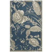 Waverly Artisanal Delight Fanciful Indigo Area Rug by Nourison - 5' x 7'