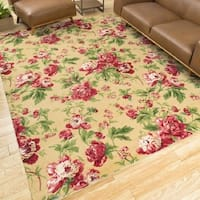Waverly Artisanal Delight Forever Yours Buttercup Area Rug by Nourison - 2'6 x 4'