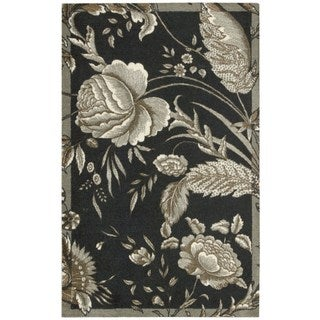 Waverly Artisanal Delight Fanciful Noir Area Rug by Nourison (8' x 10')