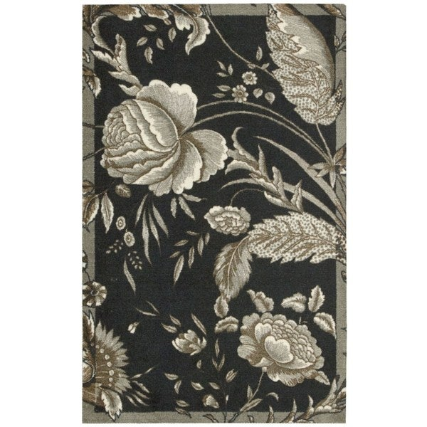 Waverly Artisanal Delight Fanciful Noir Area Rug by Nourison (8' x 10') - 8' x 10'
