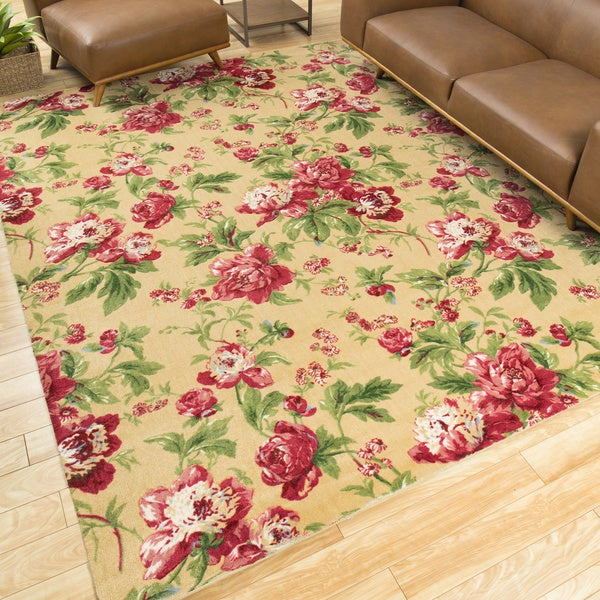 Waverly Artisanal Delight Forever Yours Buttercup Area Rug by Nourison - 8' x 10'