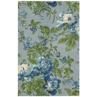 Waverly Artisanal Delight Forever Yours Sky Area Rug by Nourison (2'6 x 4') - 2'6 x 4'