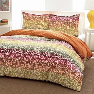 City Scene Fiesta Stripe Reversible 3-piece Comforter Set