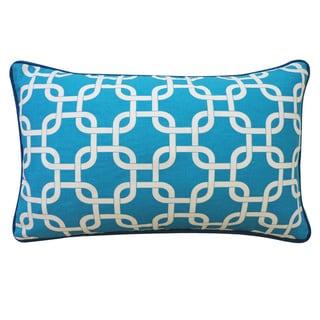 Jiti Teal 12 x 20-inch Links Pillow