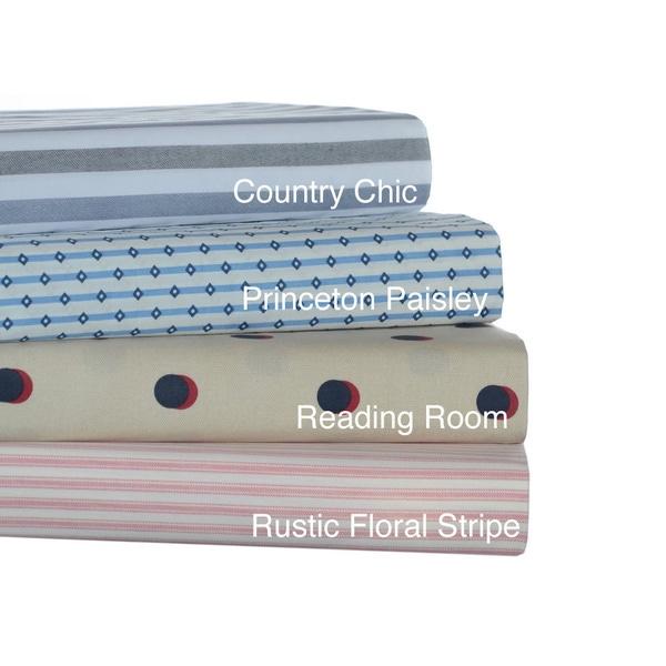 Tommy Hilfiger Cotton Percale Print Sheet Sets