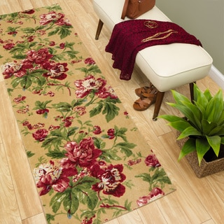 Waverly Artisanal Delight Forever Yours Buttercup Area Rug by Nourison (2'6 x 8')