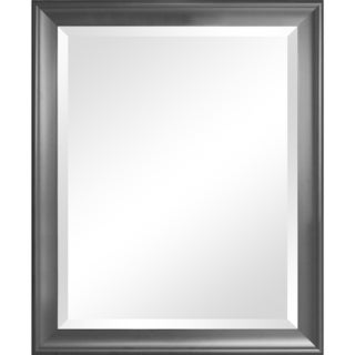 Symphony Black Framed Wall Mirror with Beveled Glass
