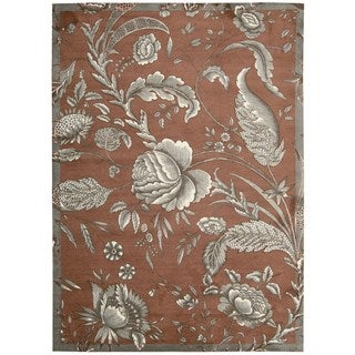 Waverly Artisanal Delight Fanciful Russet Area Rug by Nourison (8' x 10')