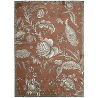 Waverly Artisanal Delight Fanciful Russet Area Rug by Nourison - 8' x 10'