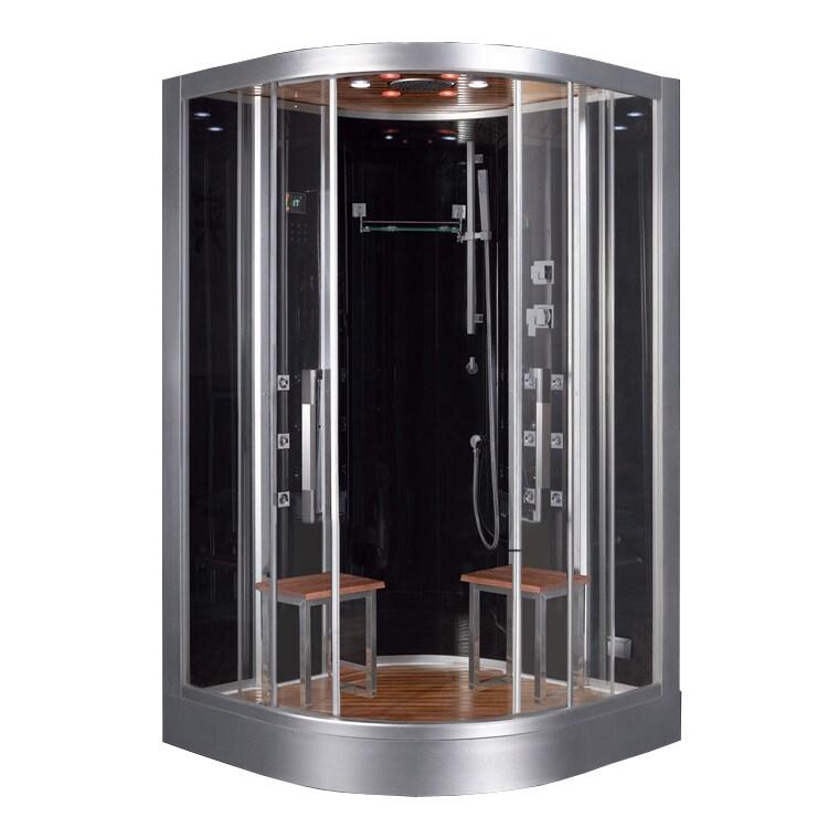 Ariel Platinum (White) DZ962F8-Blck Steam Shower (Black)