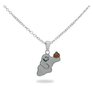 Junior Jewels Children's Enamel Friendly Ghost Pendant