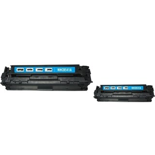 INSTEN Cyan Toner Cartridge for HP CB541A/ Canon 125A (Pack of 2)