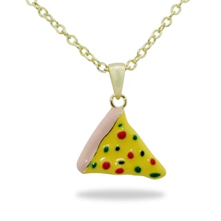 Junior Jewels Gold Overlay Children's Pizza Slice Necklace