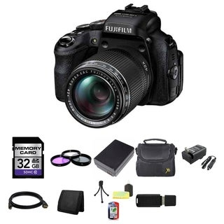 Fujifilm FinePix HS50EXR 16MP Black Digital Camera 32GB Bundle