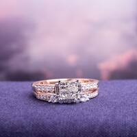 Miadora Signature Collection 14k Rose Gold 1ct TDW Diamond Bridal Ring Set (G-H, I1-I2)