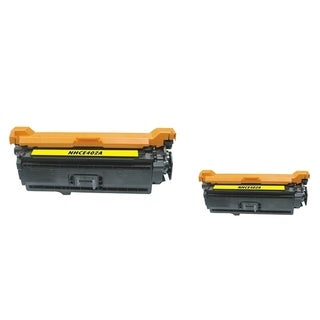 INSTEN Yellow Toner Cartridge for HP CB402A (Pack of 2)