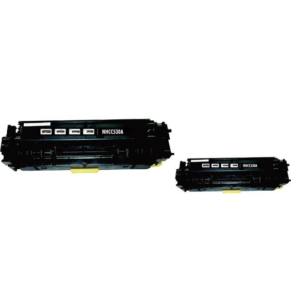 INSTEN Black Toner Cartridge for HP CC530A (Pack of 2)