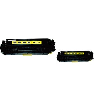 INSTEN Yellow Toner Cartridge for HP CC532A (Pack of 2)