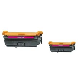 INSTEN Magenta Toner Cartridge for HP CE253A (Pack of 2)