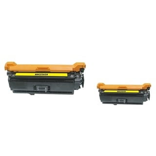 INSTEN Yellow Toner Cartridge for HP CE262A (Pack of 2)