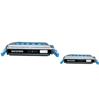 INSTEN Black Toner Cartridge for HP CE400A (Pack of 2)