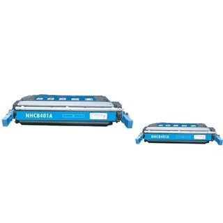 INSTEN Cyan Toner Cartridge for HP CE401A (Pack of 2)
