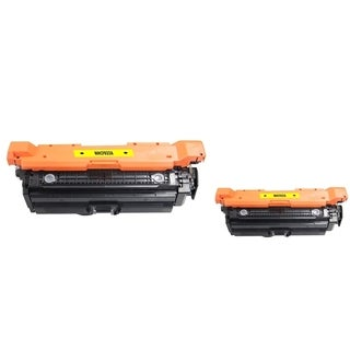 INSTEN Yellow Toner Cartridge for HP CF032A (Pack of 2)