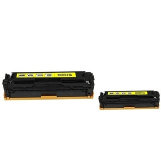 INSTEN Yellow Toner Cartridge for HP CF212A (Pack of 2)