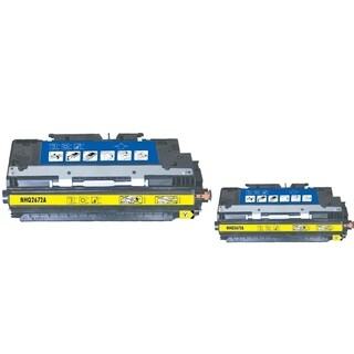 INSTEN Yellow Toner Cartridge for HP Q2672A (Pack of 2)