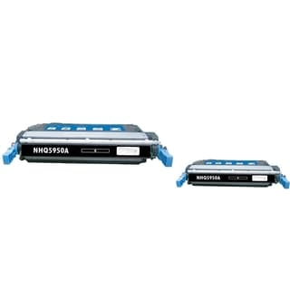 INSTEN Black Toner Cartridge for HP Q5950A (Pack of 2)