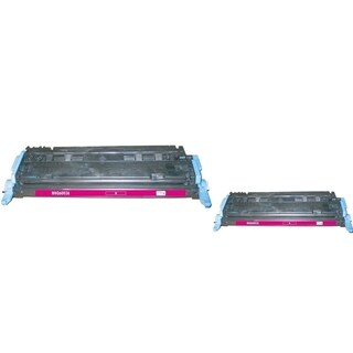 INSTEN Magenta Toner Cartridge for HP Q6003A (Pack of 2)