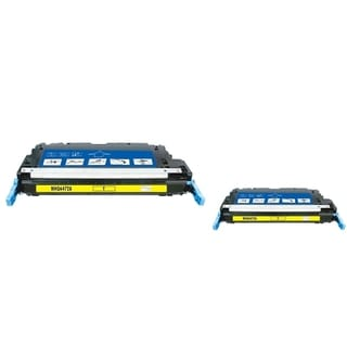 INSTEN Yellow Toner Cartridge for HP Q6472A (Pack of 2)