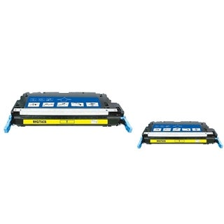 INSTEN Yellow Toner Cartridge for HP Q7562A (Pack of 2)