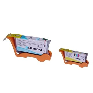 Insten 100XL Cyan/ Yellow Cartridge 14N1069/ 14N1071 Lexmark Impact S305/ Interact S605/ Interpret S405/ Prospect Pro205